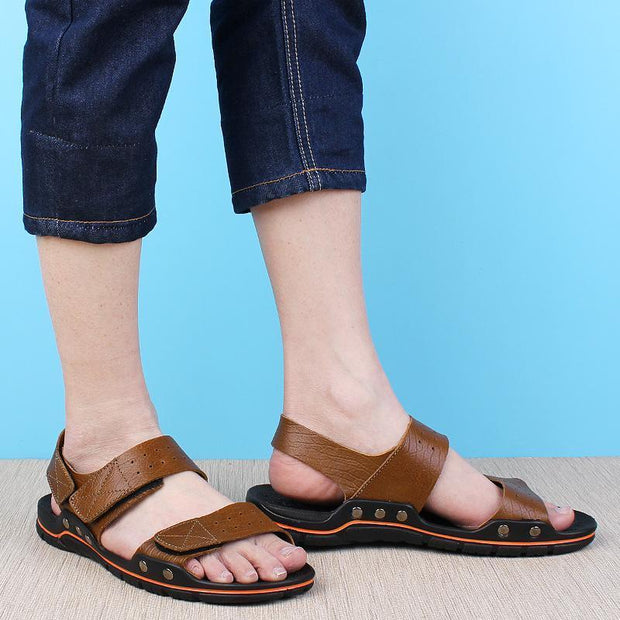 Men's casual trend outdoor breathable flat sandals 127069