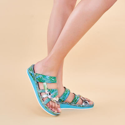 120046 LAURA VITA Bruel 058 Retro Genuine Leather Handmade PAINTED VELCRO Original Comfortable SANDAL