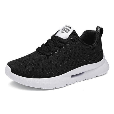 Women's fashion breathable outdoor flying woven lace casual sports running soft bottom mesh sneakers 127242