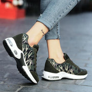 Women's fashion lightweight breathable casual camouflage lace-up running shoes 127356