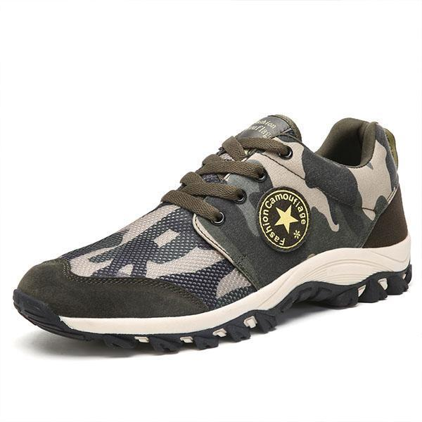 Ladies army green camouflage breathable outdoor non-slip lightweight military training sports shoes 127388