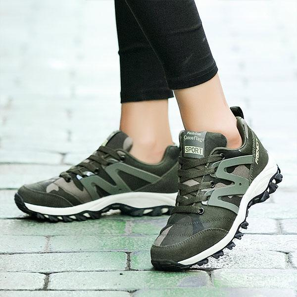 Ladies army green camouflage outdoor breathable non-slip lightweight military training sports shoes 127403