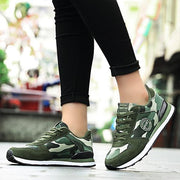 Ladies camouflage canvas outdoor comfortable breathable lightweight military training sports shoes 127410