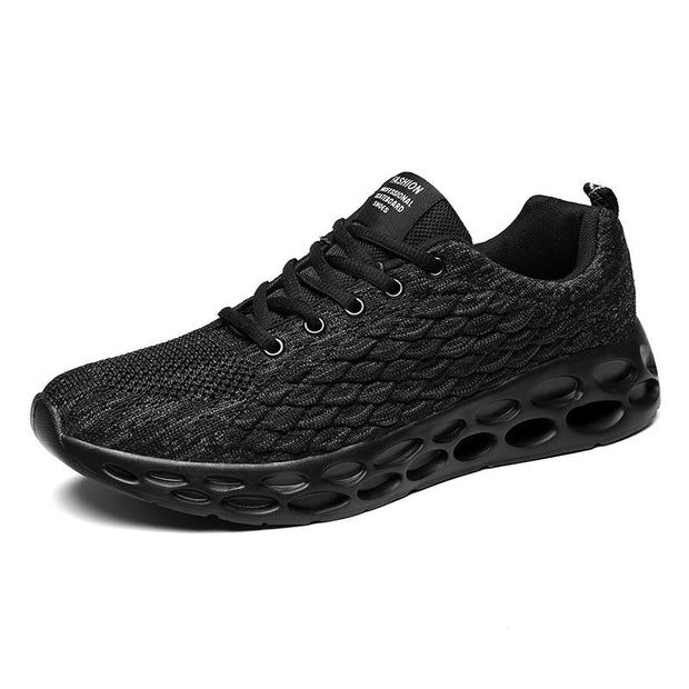 Large Size Men Knitted Fabric Breathable Casual Running Sneakers 129433