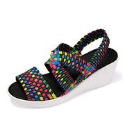 Women's fashion casual woven shoes 129111