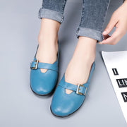 Women's leisure shoes buckled with Korean version bean shoes 128622