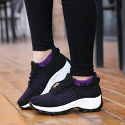 Women's fashion comfortable casual breathable sneakers 129227