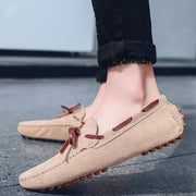 Men Moccasin Slippers Cowhide Leather Upper Fashion Style Driving Shoes 128850