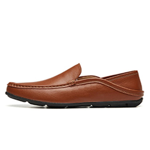 Men Moccasin Slippers Cowhide Leather Upper Fashion Style Driving Shoes 128877