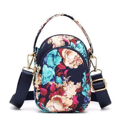 Women Floral Multi-pocket Crossbody Phone Bag