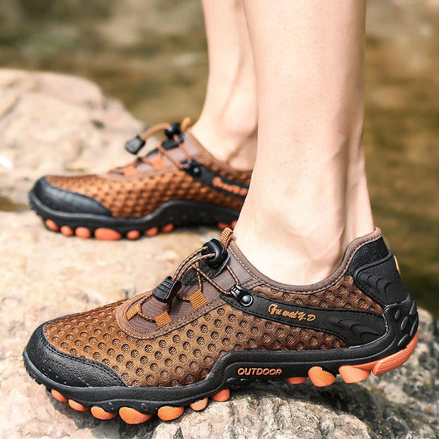 Men's Hollow Mesh Outdoor Hiking Breathable Shoes
