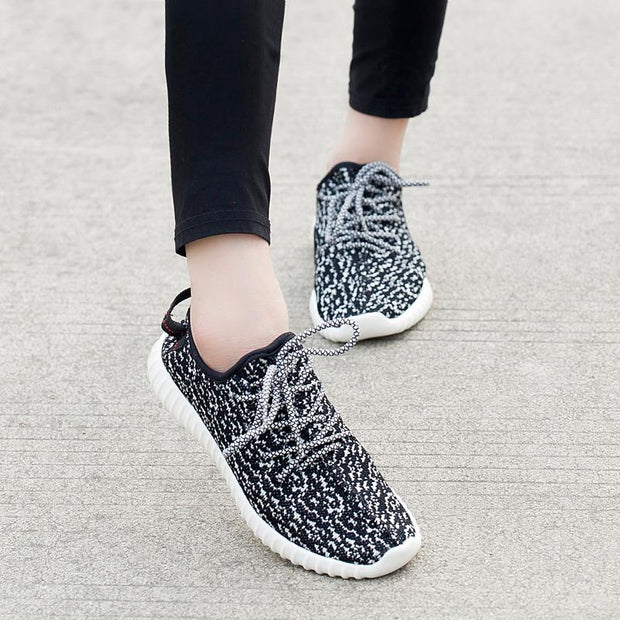 Women Spring and autumn flying woven coconut shoes breathable sports casual slip wear running 118087
