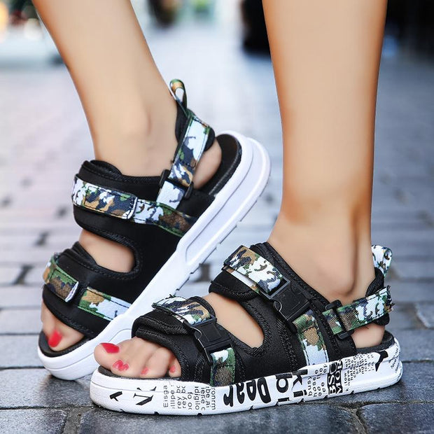 Women New sandals fashion wild flat Korean version of the trend dual-use sandals 119371