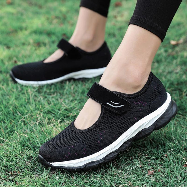 Women's Casual mesh Openwork Breathable Elastic Bandage Sports Loafers  128993