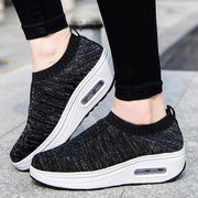 Women's breathable flying woven fashion sneakers 128623
