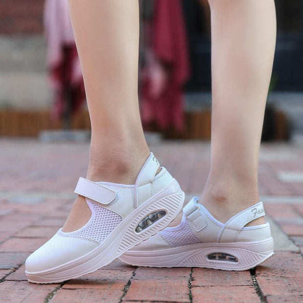 Women's Shoes Spring Sports Casual Shoes Mesh Rocking Shoes