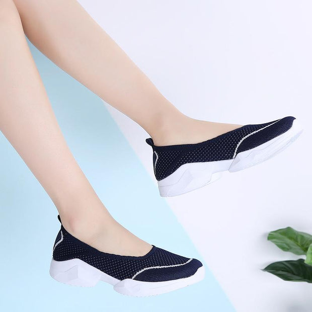 Women Flats Slip-on Casual Shoes Loafers Summers Sport Shoes Big size 35-42 129445