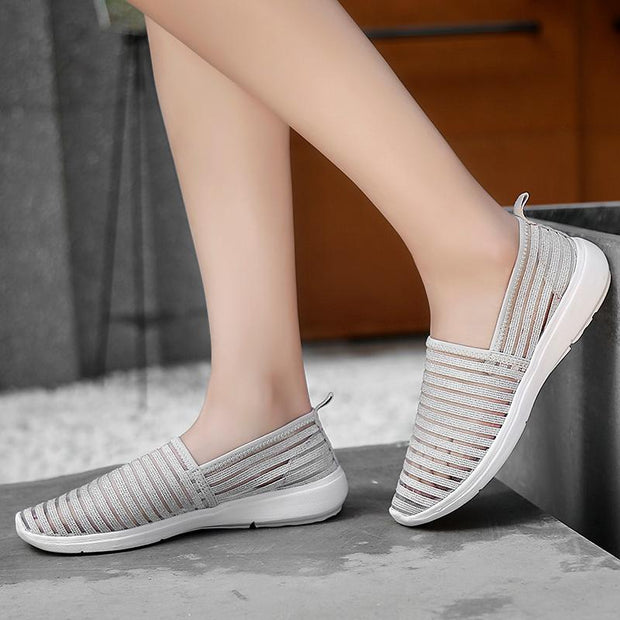 Women Fashion Breathable Casual Shoes Ladies Outdoor Sports Loafers Sneakers 129656