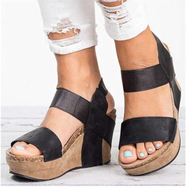 2019 large size female wedge sandals cross-border