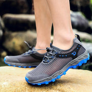 Men Mesh Breathable Outdoor Hiking Water Friendly Sneakers