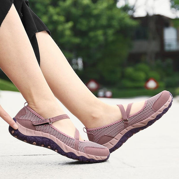 Women's Casual Mesh Openwork Breathable Elastic Bandage Sports Loafers