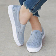 Women Summer Casual Solid Color Breathable Loafers