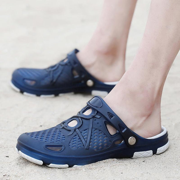Men's Summer Slippers Lightweight Mesh Clog Quick Drying Garden Shoes Shoes