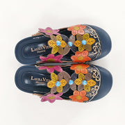 LAURA VITA BIANCA 06 Retro Genuine Leather Handmade PAINTED VELCRO Original Comfortable SANDAL