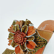 133514 LAURA VITA BECTTINOO 179 Clover Pattern Hand-colored Genuine Leather VELCRO sandal shoes