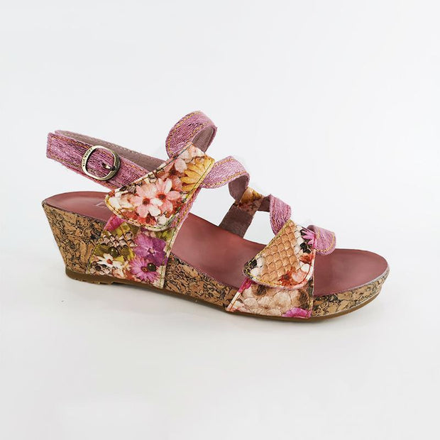 133515 LAURA VITA BECLINDAO 209 Clover Pattern Hand-colored Genuine Leather VELCRO sandal shoes