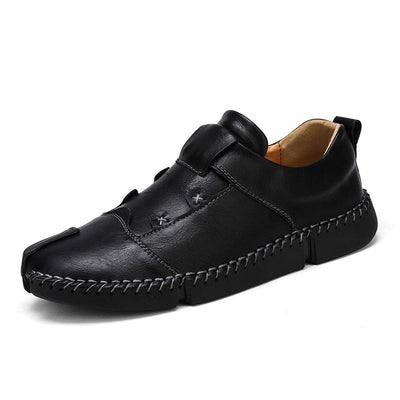Summer Shoes Men Casual Sneakers Leather Loafers Flat Oxford Men Lightweight Fashion Moccasins 133616
