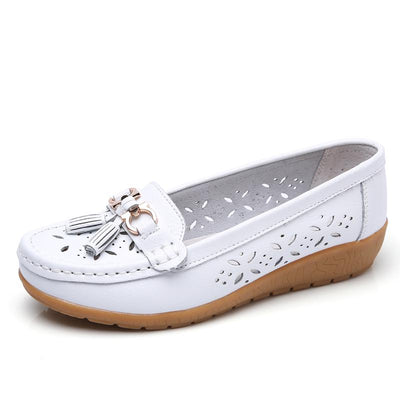 Women's Casual Comfort Slip-on Hollow Walking Driving Loafers Shoes