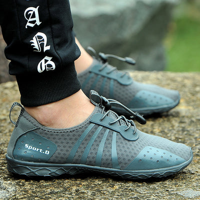 high-end upstream shoes outdoor wading shoes breathable male fitness running hiking 133746