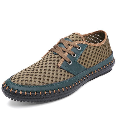 Men's Breathable Fashion Mesh Lace Up Casual Soft Outdoor Flats(Second -30% by code:BTS30)(Buy 3 Get $10 Off By Code: BUY3)
