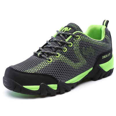 Men Outdoor Sports Breathable Hiking Shoes,Mesh Upper Wear Resisting Trekking Footwear
