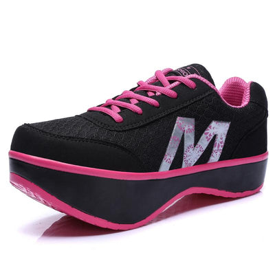 Women's Shoes Negative Heel Thick-soled Sports Shoes 134066
