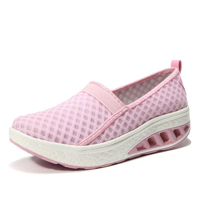 Ms. flying woven breathable increased air cushion summer casual mesh shoes 134126