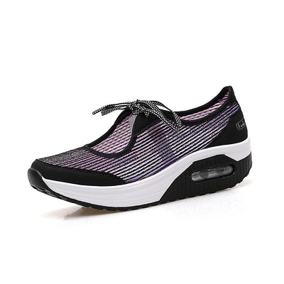 Women's Breathable Outdoor Light Flying Knit Non-slip Sneakers 134133
