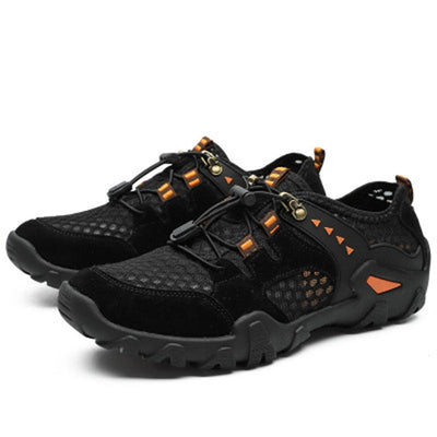 134542 Men hiking outdoor casual shoes breathable hollow mesh wear-resistant climbing