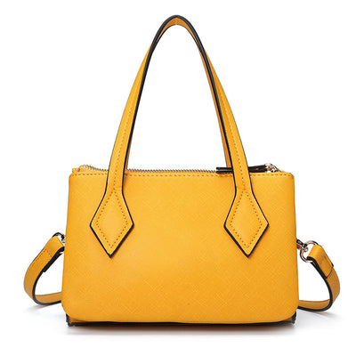 135774 Women Solid Multifunction Handbag Three Layer Crossbody Bag