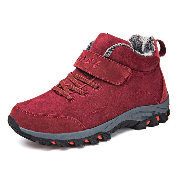 Winter Sneakers Middle-Aged Warm Cotton Shoes Women Boots With Fur Women's Shoe Mountain Hiking Boot