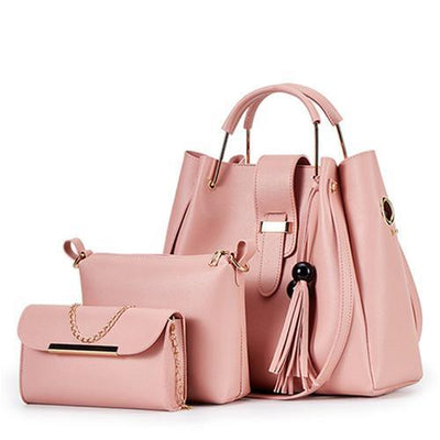 Women's Three-Piece Large-Capacity Bucket Handbag Shoulder Bag