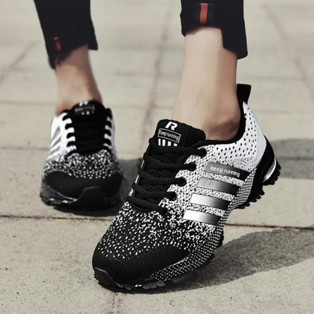Women's Sports Shoes Mesh Fabric Breathable Running Sneakers