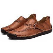 Men's  Casual Handmade Shoes Leather Magic Flat Shoes