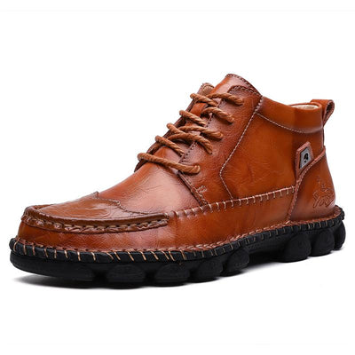 Men's New Arrival Hand Stitching Pure Color Outdoor Ankle Boots