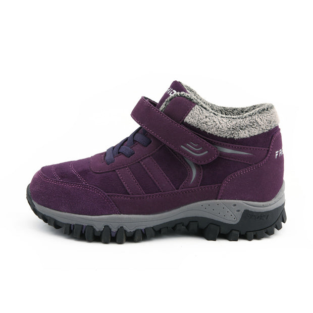 Breathable Mesh Warm Lined Hook Loop Comfy Casual Boots