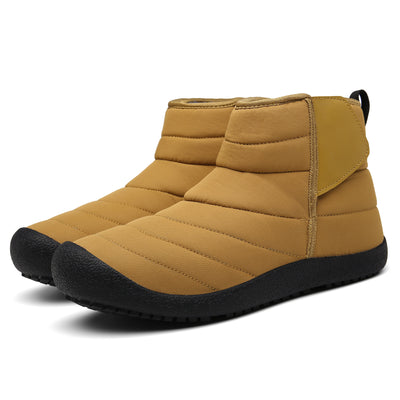 Men Outdoor Slip On Waterproof Anti-Slip Fur Lined Ankle Snow Boots