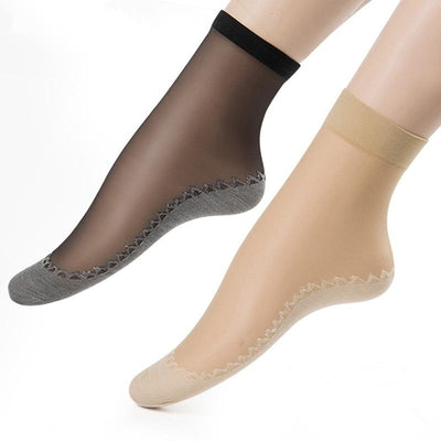 Women Summer Thin Breathable Antiskid Stretchable Elastic Invisible Boat Ankle Socks