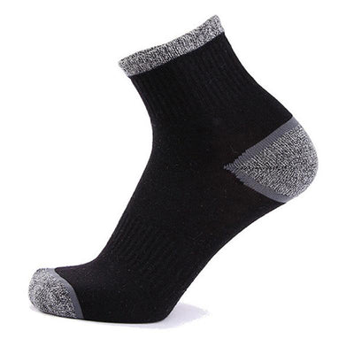 Men Casual Sport Breathable Cotton Middle Tube High Elastic Deodorization Basketball Socks