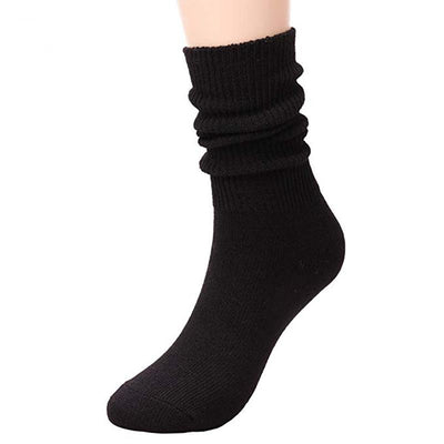 Womens Crew All Season Soft Slouch Knit Cotton Knee High Socks
